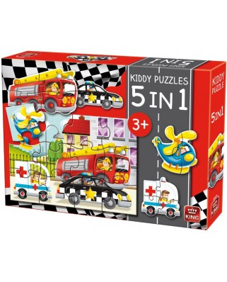 Puzzle King - Kiddy Puzzles, 3/4/12 piese (05076)