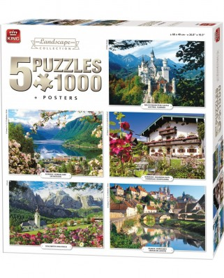 Puzzle King - Landscape Collection, 5x1.000 piese (05209)
