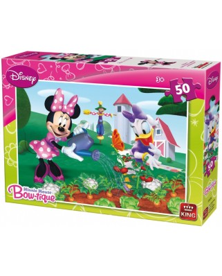Puzzle King - Minnie Mouse Bow-tique, 50 piese (05147-A)