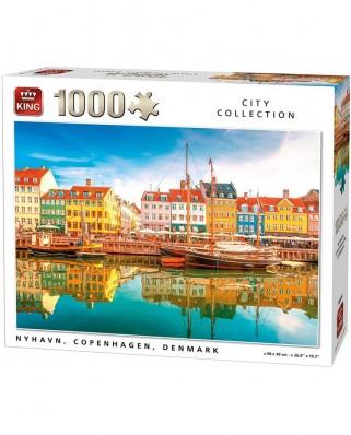 Puzzle King - Nyhavn, Copenhaguen, Denmark, 1.000 piese (05704)