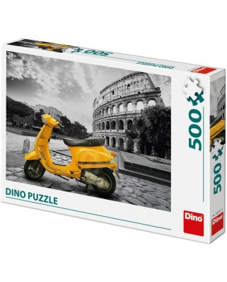 Puzzle Dino - Scooter at the Colosseum, 500 piese (65150)