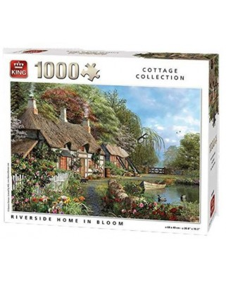 Puzzle King - Riverside Home in Bloom, 1000 piese (05718)