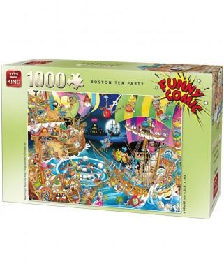 Puzzle King - Robert Crisp: Boston Tea Party, 1.000 piese (05222)