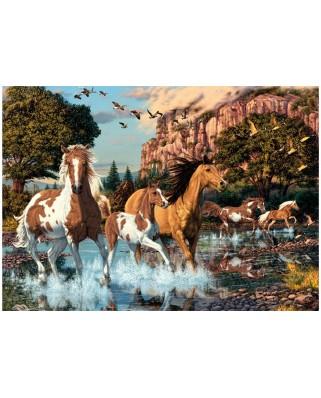 Puzzle Dino - Secret Puzzle - Horses, 1.000 piese (62968)