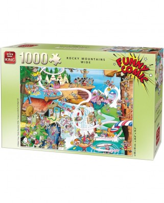 Puzzle King - Robert Crisp: Rocky Mountains Wide, 1.000 piese (05189)