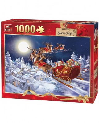 Puzzle King - Santa's Sleigh, 1.000 piese (05601)