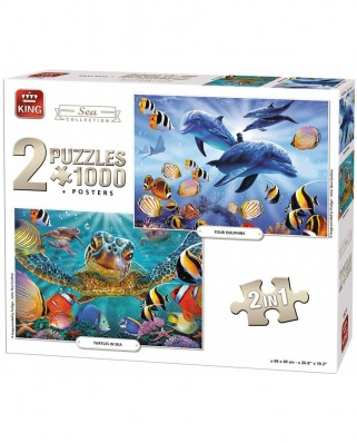 Puzzle King - Sea Collection, 2x1.000 piese (05211)