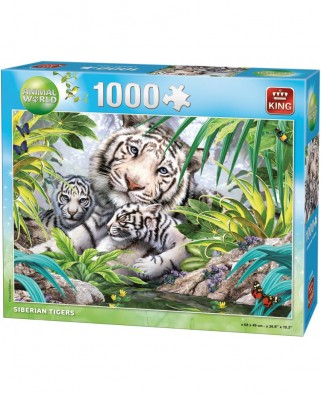 Puzzle King - Siberian Tigers, 1.000 piese (05486)