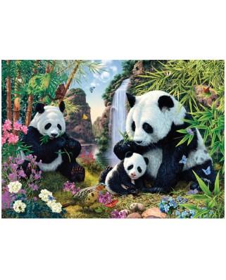 Puzzle Dino - Secret Puzzle - Pandas, 1000 piese (62967)