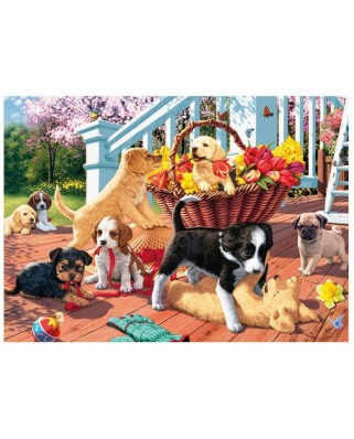 Puzzle Dino - Secret Puzzle - Puppies, 1000 piese (62959)