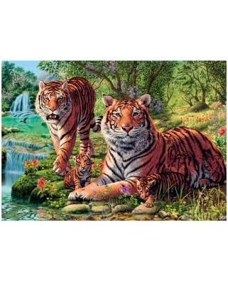 Puzzle Dino - Secret Puzzle - Tigers, 1.000 piese (62966)