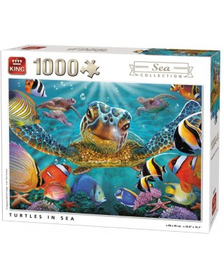 Puzzle King - Turtles in Sea, 1.000 piese (05617)
