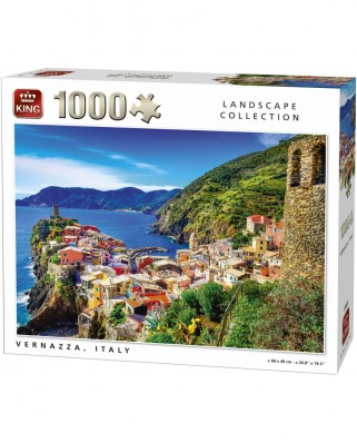 Puzzle King - Vernazza, Italy, 1.000 piese (05665)