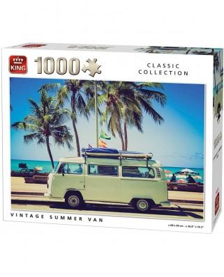 Puzzle King - Vintage Summer Van, 1.000 piese (05719)