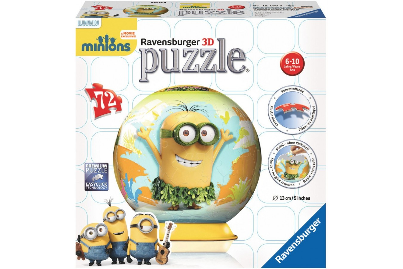 Puzzle glob Ravensburger - Minions, 72 piese (12170)