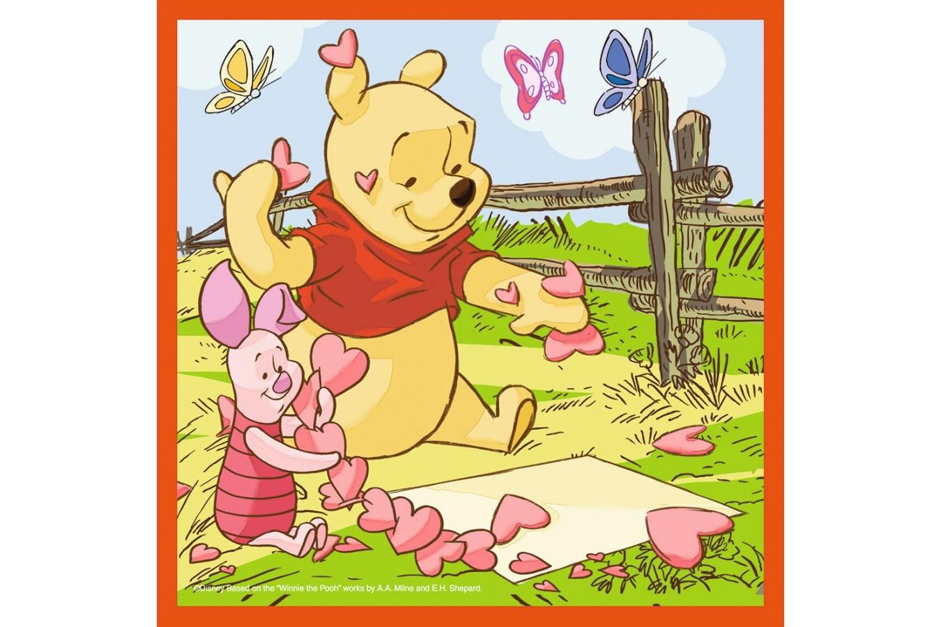 Puzzle Ravensburger - Winnie Si Fluturii, 2x25 piese (07201)