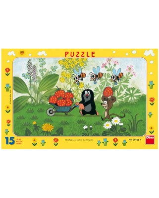 Puzzle Dino - The Little Mole, 15 piese (62841)