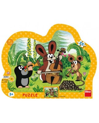 Puzzle Dino - The Little Mole, 25 piese (62865)
