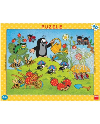 Puzzle Dino - The Little Mole, 40 piese (62867)