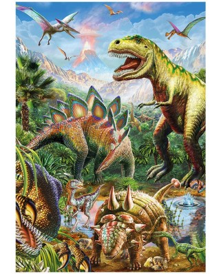 Puzzle fosforescent Dino - Dinosaurs, 100 piese (62911)