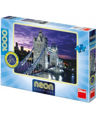 Puzzle fosforescent Dino - Tower Bridge, London, 1.000 piese (62444)
