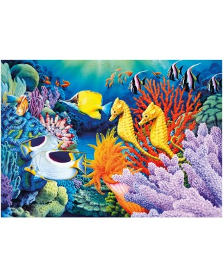 Puzzle fosforescent Dino - Undersea, 1.000 piese (62970)