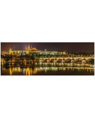 Puzzle panoramic Dino - Charles Bridge in Prague, Czech Republic, 2.000 piese (63003)