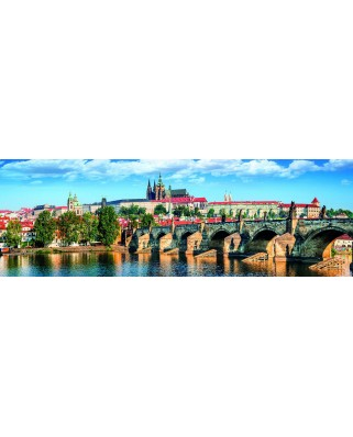 Puzzle panoramic Dino - Prague, Czech Republic, 1.000 piese (62986)