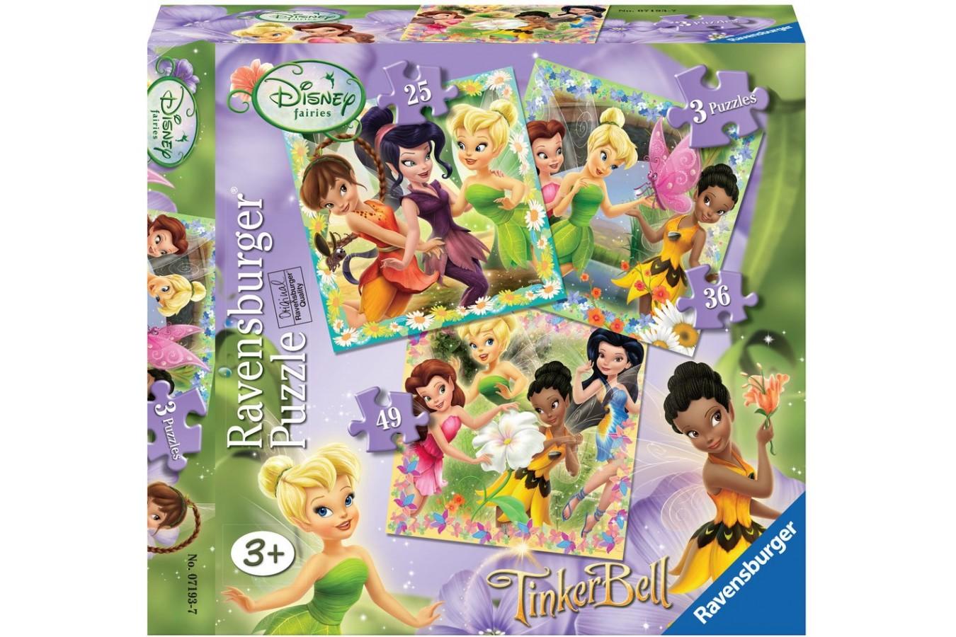 Puzzle Ravensburger - Zanele Disney, 25/36/49 piese (07193)