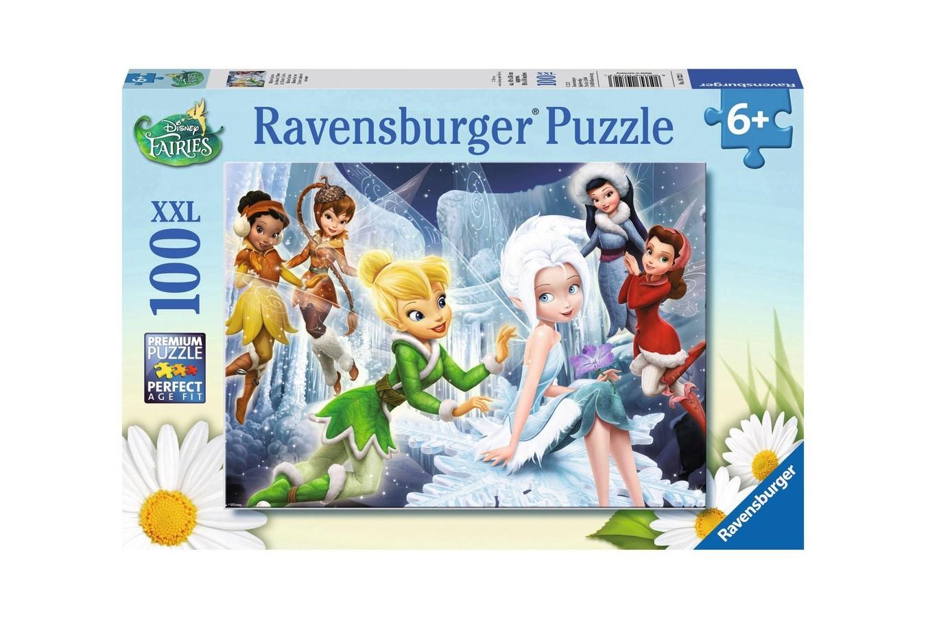 Puzzle Ravensburger - Zanele Iernii, 100 piese (10722)
